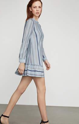 BCBGMAXAZRIA Lucile Striped Shirt Dress