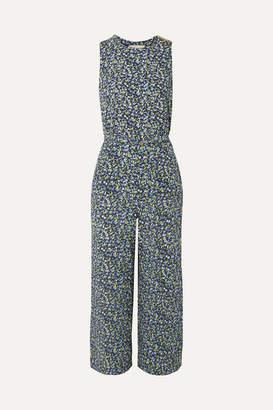 MICHAEL Michael Kors Belted Floral-print Crepe Jumpsuit