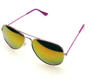 Emblem Eyewear Aviator Sunglasses Mirror Lens New Men Women Fashion Frame Retro Pilot (, 0)