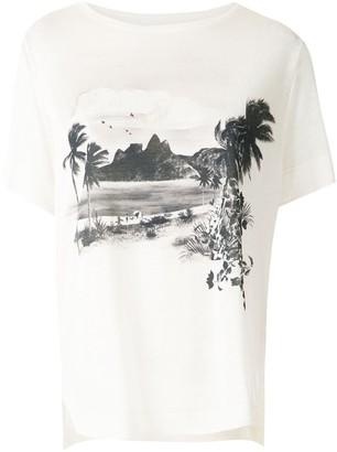 OSKLEN front print ribbed T-shirt