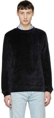 A.P.C. Black Velour Jeremy Sweatshirt