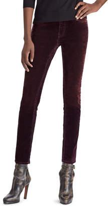Ralph Lauren 50th Anniversary Easton Mid-Rise Slim Cigarette Velvet Pants