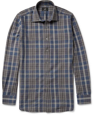 Dunhill Slim-Fit Checked Wool and Cotton-Blend Flannel Shirt