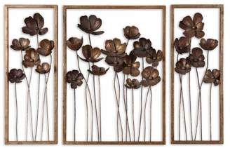 Uttermost 12785 Metal Tulips Set of 3 Wall Art