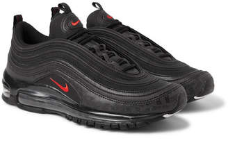 Nike Air Max 97 Future Tech Leather-Trimmed Ripstop Sneakers - Black