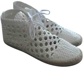 Celine White Leather Espadrilles