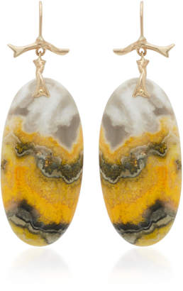 Annette Ferdinandsen 14K Gold Bumblebee Jasper Earrings