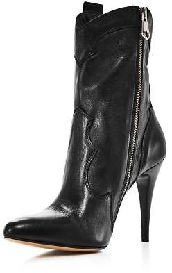 Charles David Women's Kimberly Pointed Toe Leather High-Heel Booties