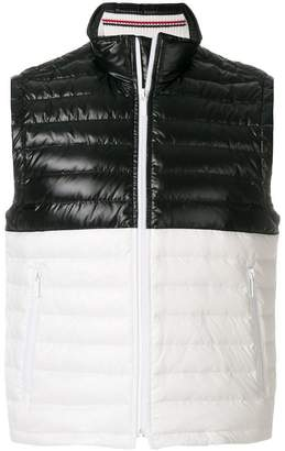 Thom Browne Quilted Down-Filled Satin Vest