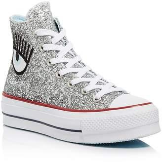 810a3372b2e5 Converse x Chiara Ferragni Women s Chuck Taylor Glitter High Top Sneakers