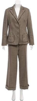 Rene Lezard Herringbone Pant Suit
