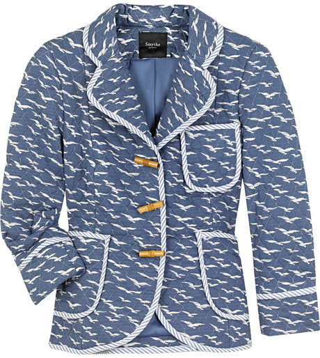 Smythe Bird-print quilted jacket