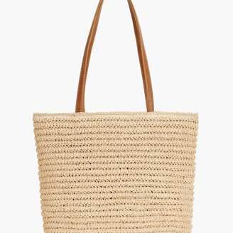 Talbots Crochet Paper Straw Tote Bag