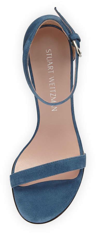 Stuart Weitzman Walkway 90mm Suede Ankle-Wrap Sandal