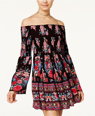 American Rag Off-The-Shoulder Floral-Print Fit & Flare Dress, Only at Macy's $69.50 thestylecure.com