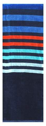 XL Multi Stripe Beach Towel Navy Voyage