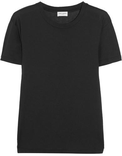 Saint LaurentSaint Laurent - Cotton-jersey T-shirt - Black