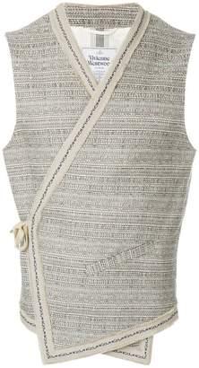 Vivienne Westwood side-fastening wrap waistcoat