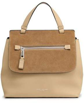 Marc Jacobs Suede-Paneled Textured-Leather Tote