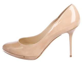 Jimmy Choo Patent Leather Semi Pointed-Toe Pumps