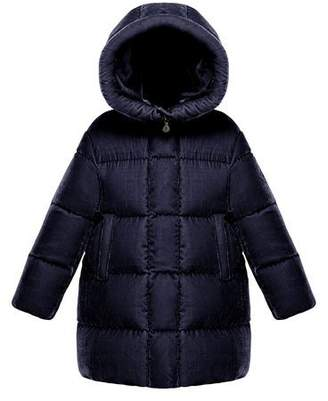 Moncler Butor Quilted Velour Jacket, Size 8-14