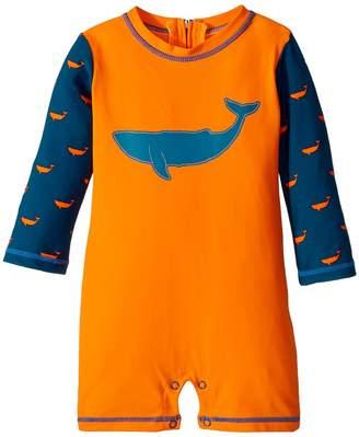 Hatley Tiny Whales Mini Rashguard One-Piece Boy's Swimsuits One Piece