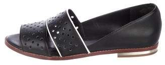 Rebecca Minkoff Leather Peep-Toe Flats
