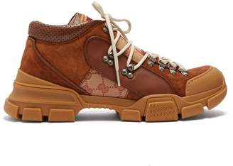 Gucci - Journey Panelled Suede Boots - Mens - Beige Multi