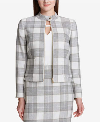 Tommy Hilfiger Zip-Front Plaid Jacket