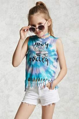 Forever 21 Girls Tie-Dye Fringe Top (Kids)