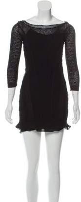 Nina Ricci Sheer Long Sleeve Dress