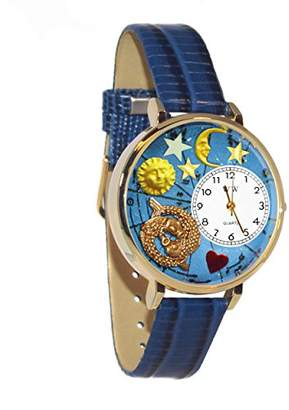 Whimsical Watches Unisex G1810009 Pisces Royal Blue Leather Watch