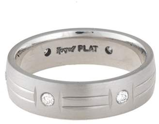 PT950 Platinum with 0.25ct Diamond Wedding Band Ring Size 10