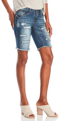 dollhouse Distressed Denim Cutoff Shorts $44 thestylecure.com