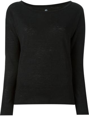Petit Bateau boat neck long sleeve classic sweatshirt $74.50 thestylecure.com