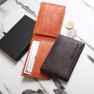 b75684b1de15 NV London Calcutta Personalised Men s Mini Leather Wallet