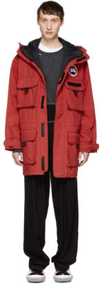 Junya Watanabe Red Canada Goose Edition Hooded Coat