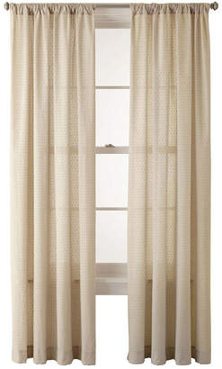 JCPenney JCP HOME HomeTM Ascension Rod-Pocket Swiss Dot Cotton Sheer Panel