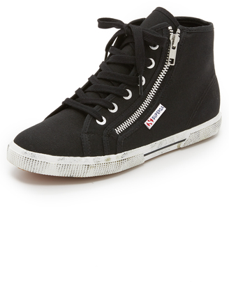 Superga 2224 COTDU High Top Sneakers $85 thestylecure.com