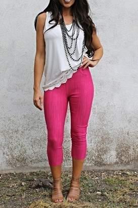 L & B Pink Capri Jeggings