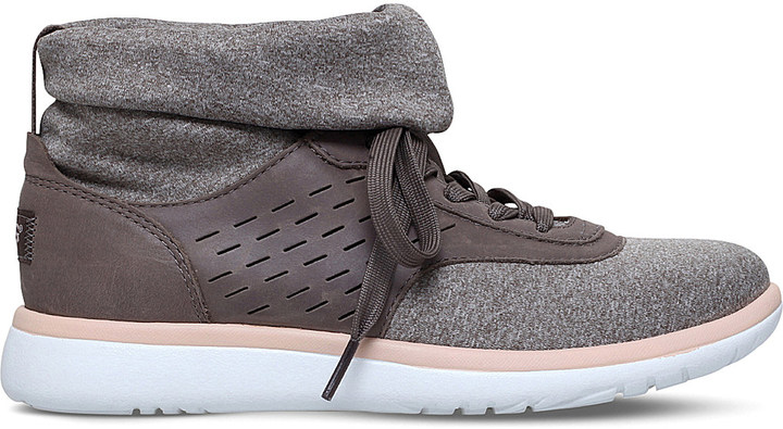 UGG Ugg Islay leather knit-sock trainers