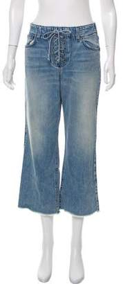 A.L.C. Mid-Rise Lace-Up Jeans