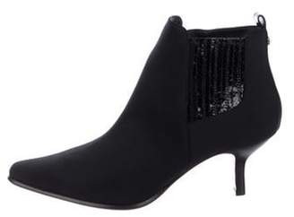Donald J Pliner Fabric Ankle Boots Black Fabric Ankle Boots