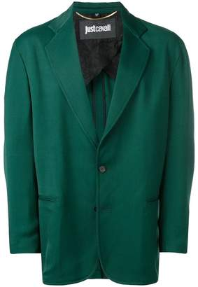Just Cavalli rear-contrast fitted blazer