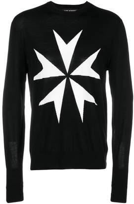 Neil Barrett military star sweater