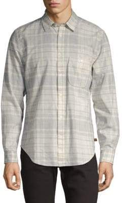 7 For All Mankind Vintage Plaid Button-Down Shirt