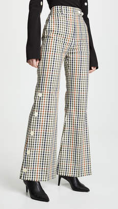 Awake Button Side Flare Trousers