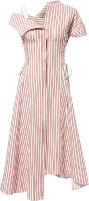 Jason Wu Asymmetrical Striped Poplin Dress
