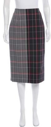 Victoria Beckham Plaid Knee-Length Skirt