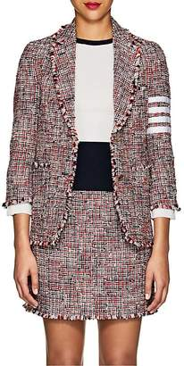 Thom Browne Women's Block-Striped Wool-Blend Tweed Two-Button Blazer